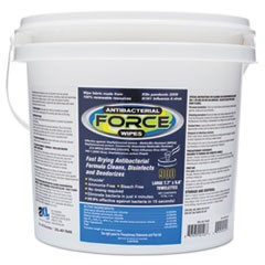FORCE Disinfecting Wipes, 8 x 6, White, 900 Wipes/Bucket, 2 Buckets/Carton