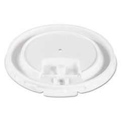 Liftbk & Lock Tab Cup Lids for Foam Cups, Fits 10oz Cups, White, 2000/Carton