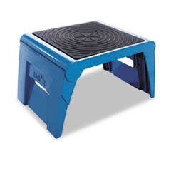 Folding Step Stool, 300lb Cap, 14w x 11 1/4d x 9 3/4h, Blue