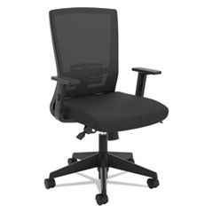 VL541 Mesh High-Back Task Chair, Supports up to 250 lbs., Black Seat/Black Back, Black Base