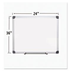 Porcelain Value Dry Erase Board, 24 x 36, White, Aluminum Frame