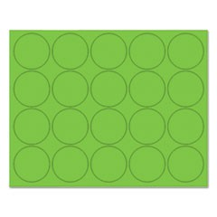 "Interchangeable Magnetic Board Accessories, Circles, Green, 3/4"", 20/Pack"
