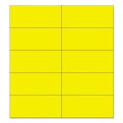 "Dry Erase Magnetic Tape Strips, Yellow, 2"" x 7/8"", 25/Pack"