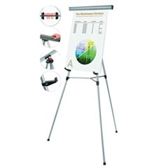 "Telescoping Tripod Display Easel, Adjusts 38"" to 69"" High, Metal, Silver"