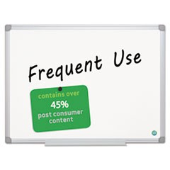1Earth Gold Ultra Magnetic Dry Erase Boards, 36 x 48, White, Aluminum Frame