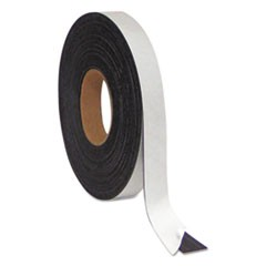 "Magnetic Adhesive Tape Roll, 1/2"" x 50 Ft., Black"