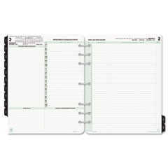 Reference Dated Two-Page-per-Day Organizer Refill, Jan.-Dec., 11 x 8 1/2, 2020