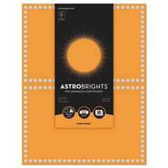Foil Enhanced Certificates, 8.5 x 11, Cosmic Orange/Silver Foil, 2/Sheet,15Sh/Pk