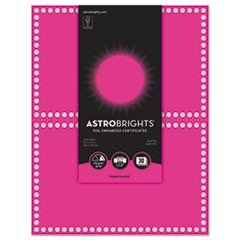 Foil Enhanced Certificates, 8.5 x 11, Fireball Fuchsia/Silver Foil,2/Sht,15Sh/Pk