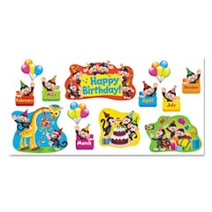 Monkey Mischief Birthday Bulletin Board Set, 18 1/4 x 31, 30 Pieces