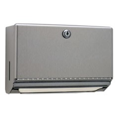 1Surface-Mounted Paper Towel Dispenser, Stainless Steel, 10 3/4 x 4 x 7 1/16