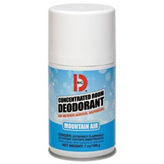 Metered Concentrated Room Deodorant, Mountain Air Scent, 7 oz Aerosol