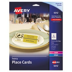 Small Textured Tent Cards, Ivory, 1 7/16 x 3 3/4, 6 Cards/Sheet, 150/Box