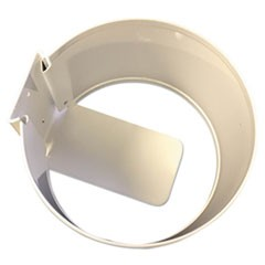 Wall Mount Holder, White, Metal, 6 x 6 x 4, 12/Carton