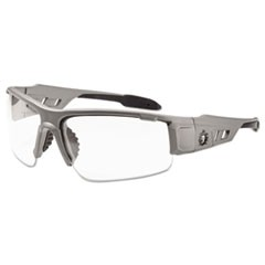 Skullerz Dagr Safety Glasses, Matte Gray Frame/Clear Lens, Nylon/Polycarb
