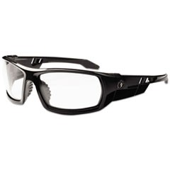 Skullerz Odin Safety Glasses, Black Frame/Clear Lens, Nylon/Polycarb