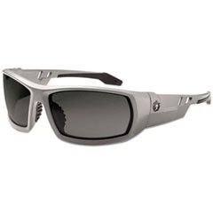 Skullerz Odin Safety Glasses, Gray Frame/Smoke Lens, Anti-Fog, Nylon/Polycarb