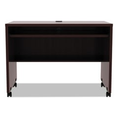 Alera Valencia Mobile Workstation Desk, 41 3/8 x 23 5/8 x 30, Mahogany