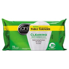 Multi-Surface Cleaning Wipes, 7 x 9, White, Citrus Scent, 75/Pack, 24/Ctn