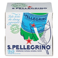 Sparkling Natural Mineral Water, 1 Liter Bottle, 12/Carton