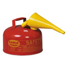 Safety Can, Type I, 2gal, Red, With F-15 Funnel