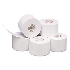 Impact Bond Paper Rolls, 38 mm x 165 ft, White, 100/Carton