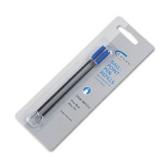 Refills for Ballpoint Pens, Fine, Blue Ink, 2/Pack