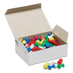 "7510012073978, Color Push Pins, Plastic, Assorted, 3/8"", 100/Box"