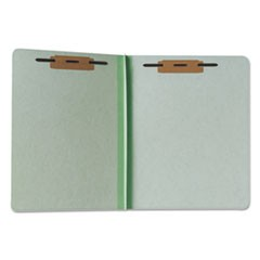 7530000431194, Pressboard File Folder, Straight Cut, Letter, Light Green, 100/BX