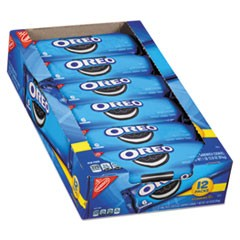 Oreo Cookies Single Serve Packs, Chocolate, 2.4oz Pack, 6 Cookies/Pack, 12Pk/Bx