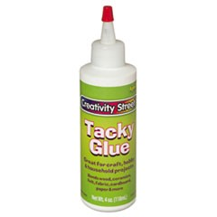 Creativity Street Tacky Glue, White, 4 fl. oz., 1 Bottle