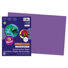 Riverside Construction Paper, 76lb, 12 x 18, Violet, 50/Pack