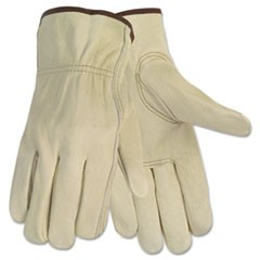 Economy Leather Driver Gloves, Medium, Beige, Pair