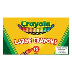 Large Crayons, 16 Colors/Box