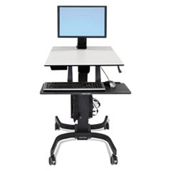 "WorkFit-C Sit-Stand Workstation, Single LD, 36 1/2"" x 32 1/4"" x 47""-67"", Gray"
