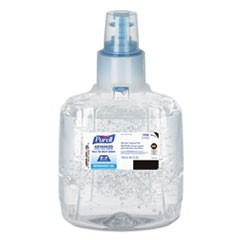 Advanced E3-Rated Instant Hand Sanitizer Gel, Fragrance-Free,1200 mL Refill, 2/Carton