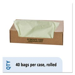 EcoSafe6400 Compostable Compost Bags, .85mil, 42 x 48, Green, 40/Box