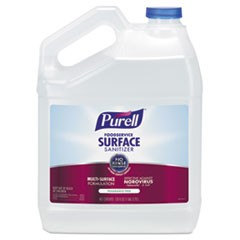 Foodservice Surface Sanitizer, Fragrance Free, 1 gal Bottle, 4/Carton