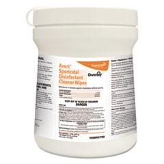 Avert Sporicidal Disinfectant Cleaner Wipes, Chlorine, 6 x 7, 160/Can,