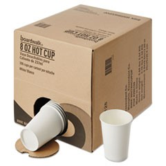 Convenience Pack Paper Hot Cups, 8 oz, White, 306/Carton