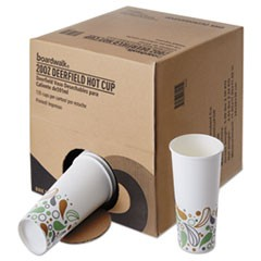 Convenience Pack Paper Hot Cups, 20 oz, Deerfield Print, 135/Carton