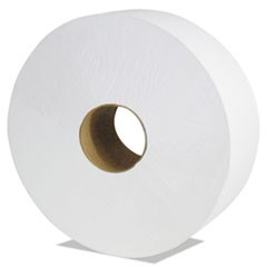 "Select Jumbo Roll Tissue, 2-Ply, White, 3 1/2"" x 1900 ft, 6 Rolls/Carton"