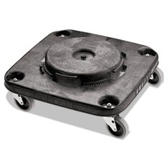 Brute Container Square Dolly, 250 lb Capacity, Black