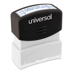 Message Stamp, E-MAILED, Pre-Inked One-Color, Blue