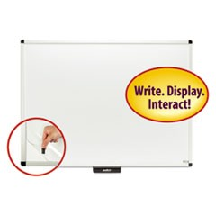"Justick Premium Aluminum-Frame Electro-Surface Dry-Erase Board, 48"" x 36"", White"
