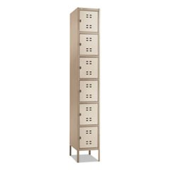 Box Locker, 12w x 18d x 78h, Two-Tone Tan