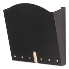 HIPAA-Compliant Wall Pocket, Letter, Black, 12 x 3 x 10 3/4