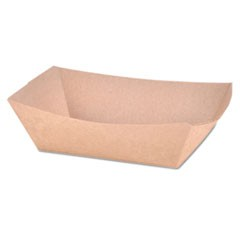 Paper Food Baskets, Brown Kraft, 1 lb Capacity, 1000/Carton