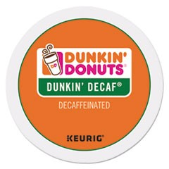 K-Cup Pods, Dunkin' Decaf, 24/Box