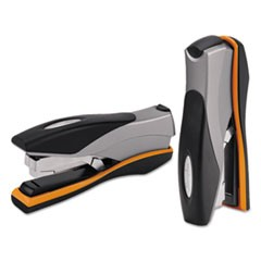 Optima 40 Desktop Stapler, 40-Sheet Capacity, Silver/Black/Orange